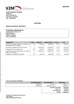 Model invoice 4 free in Contasimple