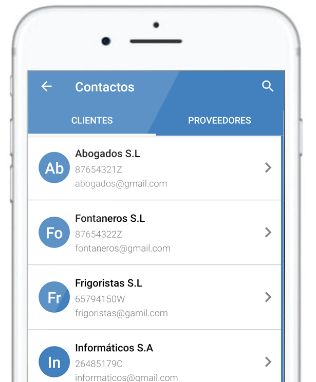 Register your received invoices from the mobile invoicing app