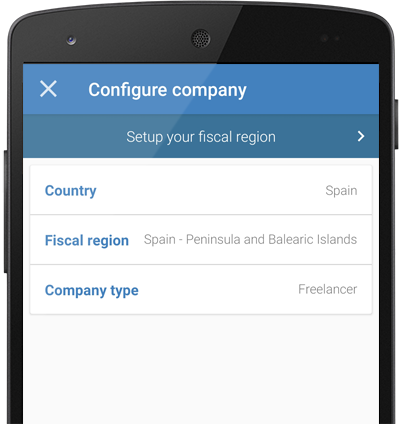 Multi-currency and multi-country invoicing app