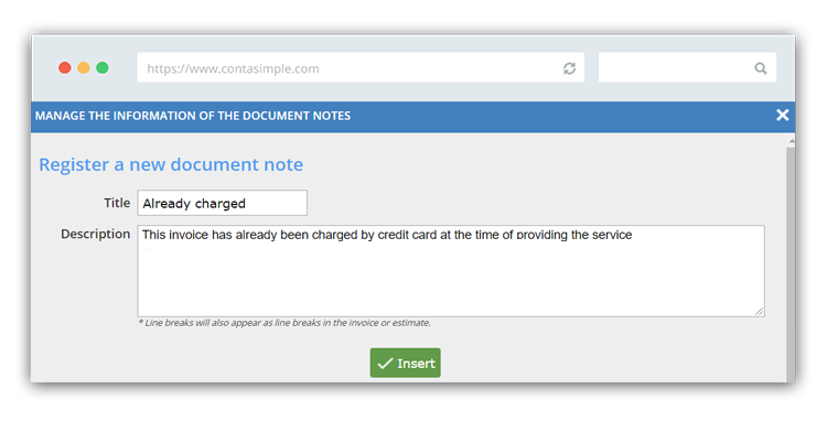How to manage retail store invoice notes